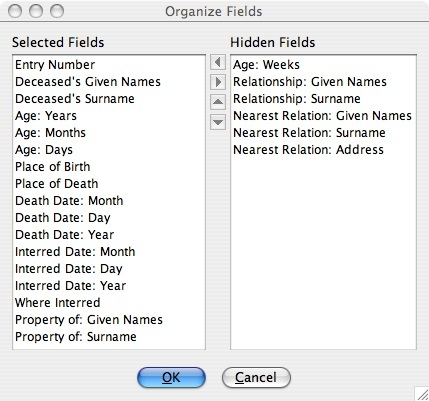organize fields screenshot
